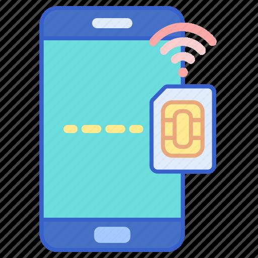 phone, sim, smart icon