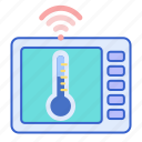 smart, technology, thermostat icon