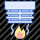 detector, sensor, smoke icon