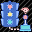 control, light, traffic icon