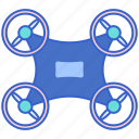 drone, technology, uav icon