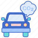 car, carbon, vehicle icon