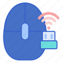 mouse, signal, wireless icon