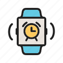 alarm, alert, clock, notification, ring, smart, watch