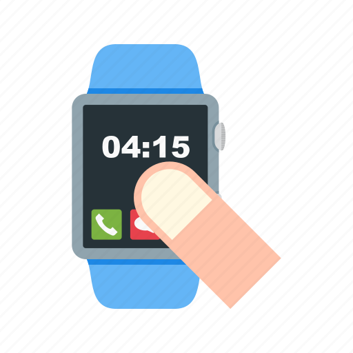 Click, finger, hand, screen, scroll, swipe, watch icon - Download on Iconfinder