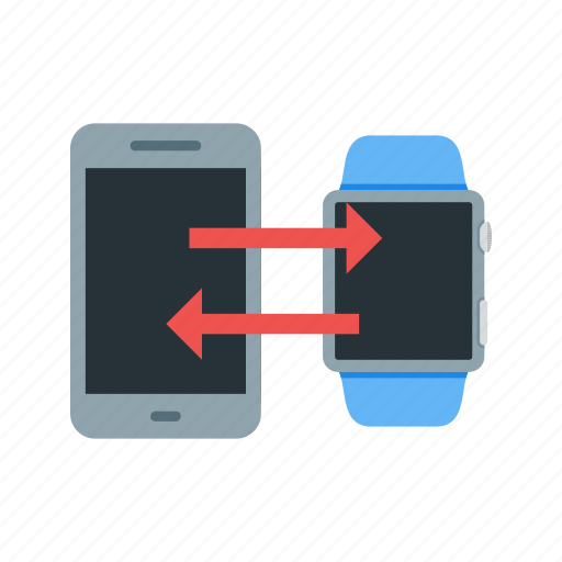 Data, device, mobile, smart, sync, transfer, watch icon - Download on Iconfinder