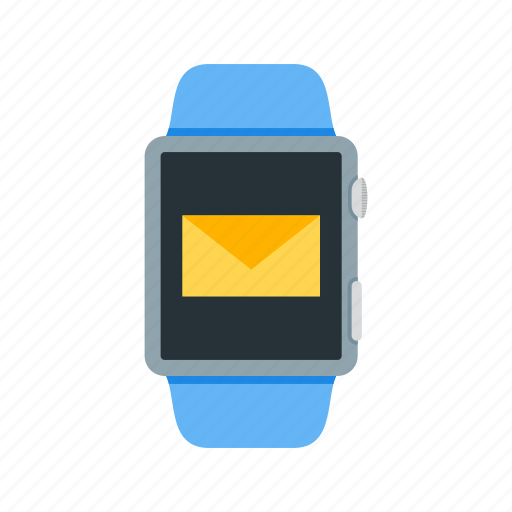 app, email, inbox, messaging, notification, send, watch icon