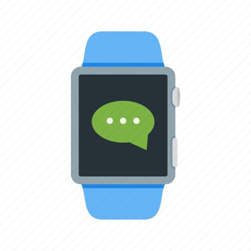 app, message, messaging, notification, send, sms, watch icon