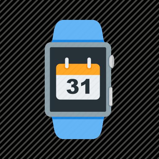 App, calendar, dates, plan, schedule, screen, watch icon - Download on Iconfinder