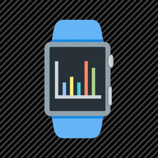 business, chart, graph, profit, smart, statistics, watch icon