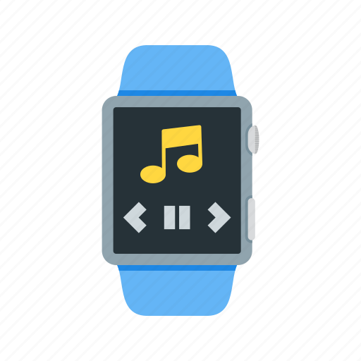app, list, music, play, smart, sound, watch icon