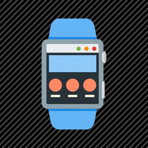 internet, online, page, screen, smart, watch, web icon