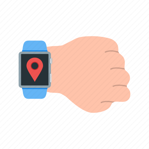 gps, location, map, mark, settings, tag, watch icon