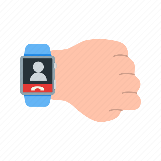 call, communication, connection, contact, smart, speaker, watch icon