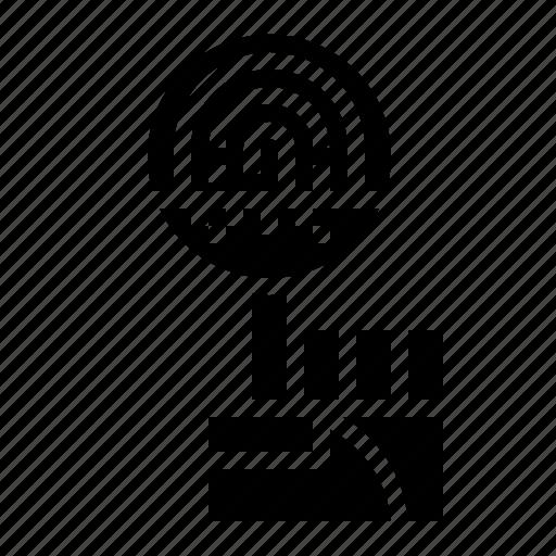 fingerprint, identity, scan, security, technology icon