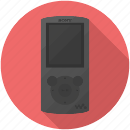 mp3, player, sony icon