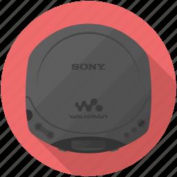 cd, player, sony, walkman icon