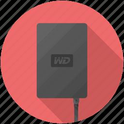 drive, external, storage, wd icon