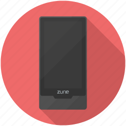 audio, microsoft, mp3, music, player, touch, zune icon