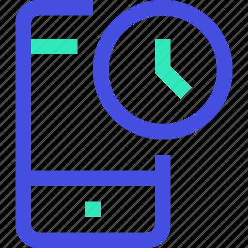 smartphone, time icon