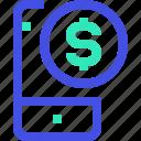money, smartphone icon