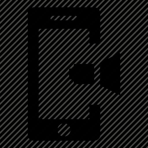 communication, mobile phone, phone, smartphone, sound, speaker, tablet icon