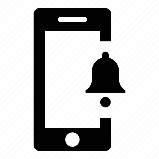 alarm, alert, mobile phone, notification, phone, smart phone, smartphone icon