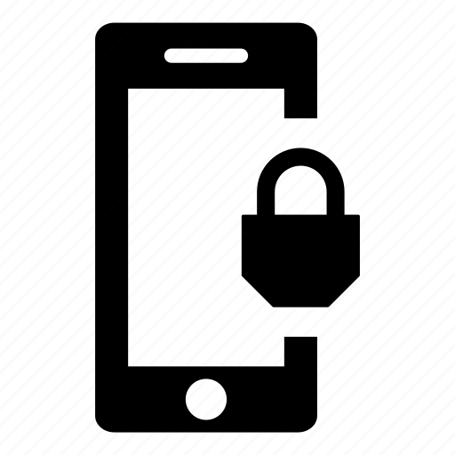 padlock, phone, phone lock, phone unlock, security, smart phone, smartphone icon