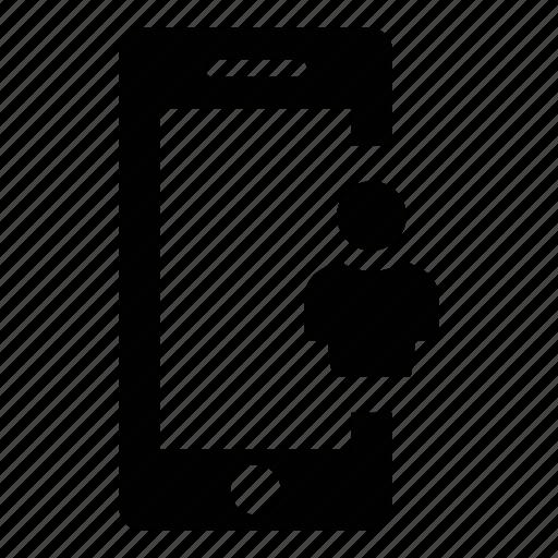 mobile phone, phone, profile, smart phone, smartphone, user icon