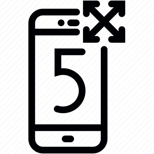 display, inch, mobile, phone, screen, size, smartphone icon