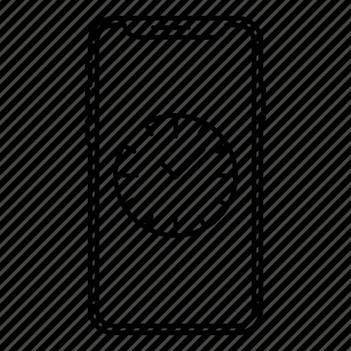 apple, clock, iphone x, smartphone, time icon