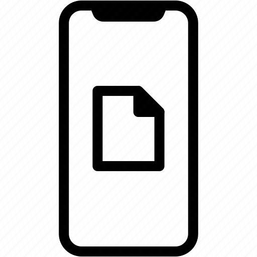 device, file, mobile, phone, smartphone icon
