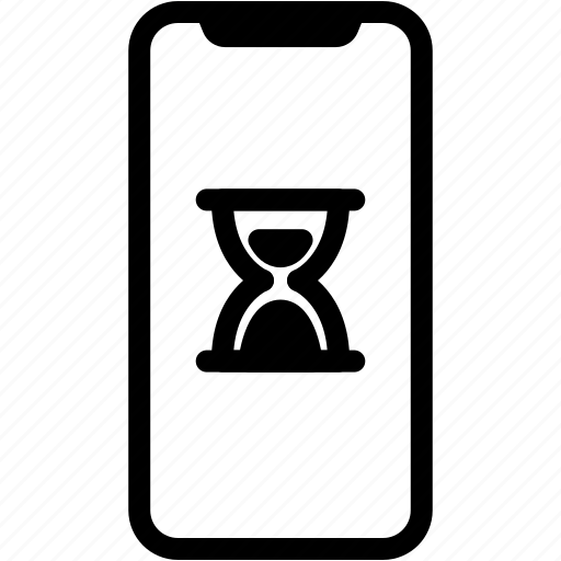 clock, device, hourglass, mobile, phone, smartphone, time icon