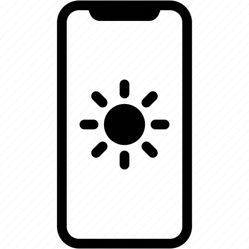 device, light, mobile, on, phone, smartphone icon
