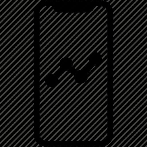 device, graph, mobile, phone, smartphone, stock icon