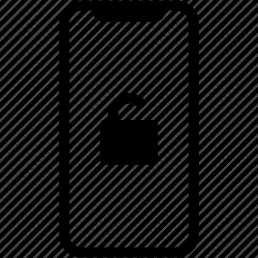 device, mobile, phone, smartphone, unlock icon