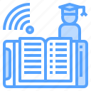 app, connection, education, online, phone, smartphone icon