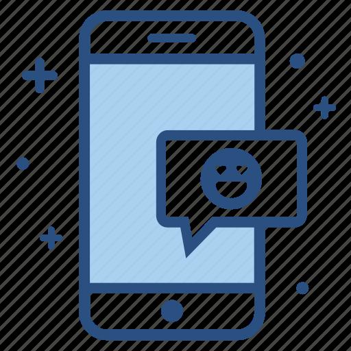 chat bubble, emoji, emoticon, face, smartphone, smiley icon