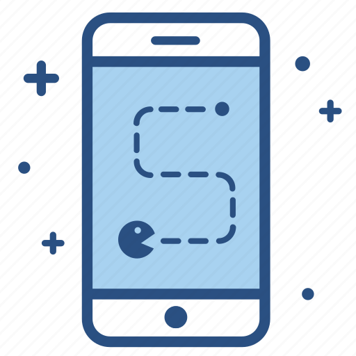 app, arcade, game, gaming, pacman, smartphone, video game icon