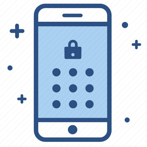 lock, mobile, password, pin, screen, smartphone icon