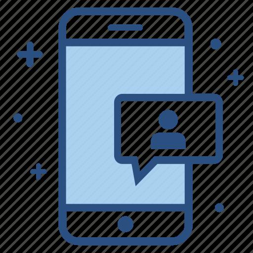 chat, friend, member, profile, smartphone, social, user icon