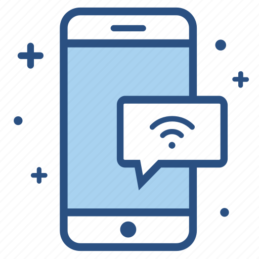 connected, internet, signal, smartphone, wifi, wireless icon