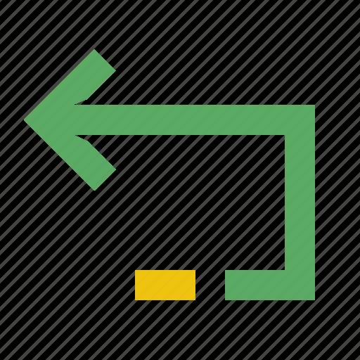 arrow, back, bookmark, close, screen, smartphone, undo icon