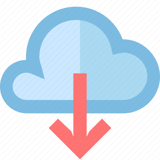 cloud, download, export, file, flow, smartphone, storage icon