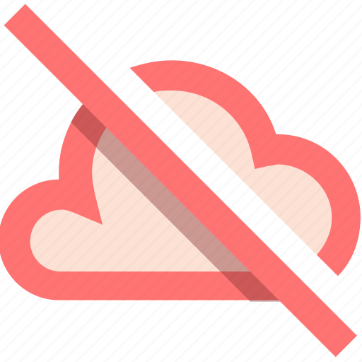 cloud, disabled, download, export, file, flow, storage icon