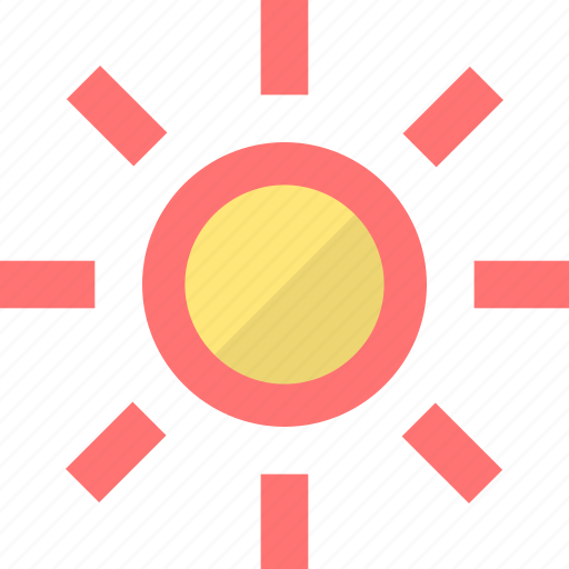 brightness, essentials, light, screen, smartphone, sun, weather icon