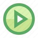 movie, play, smartphone, stream, track, triangle, video icon