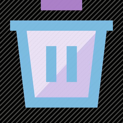 bin, can, delete, file, garbage, remove, trash icon