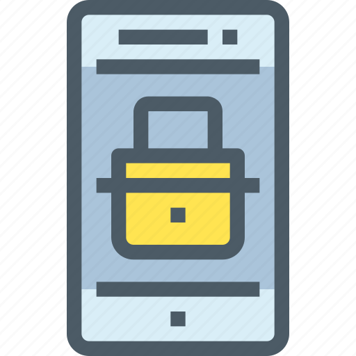 mobile, padlock, secure, security, smartphone, technology icon