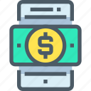 bank, banking, finance, mobile, smartphone, technology icon